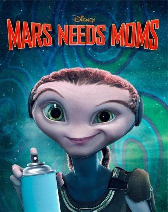 Poster Of Mars Needs Moms In Dual Audio Hindi English 300MB Compressed Small Size Pc Movie Free Download Only At worldfree4u.com