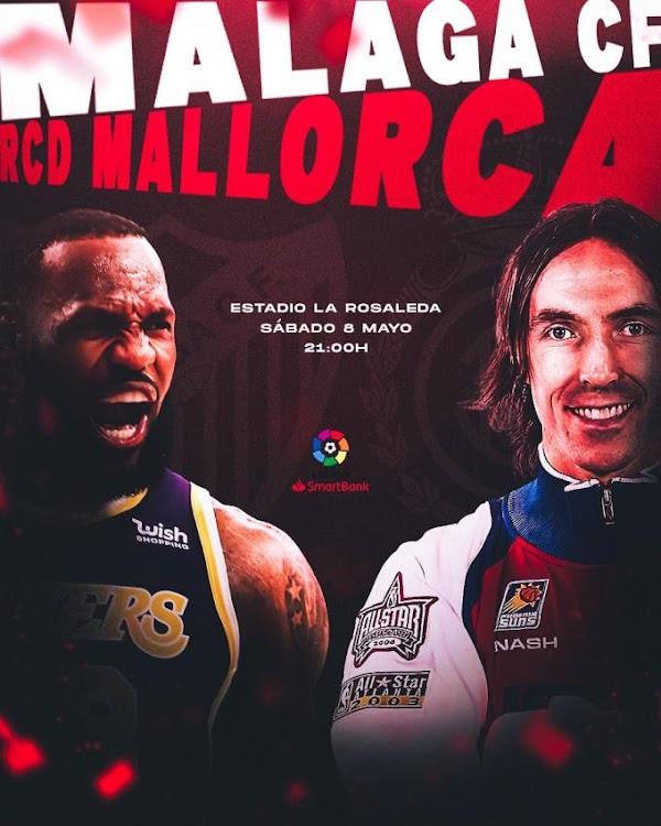 El Mallorca tira de guasa: Cartel con Lebron James y Nash para el choque ante el Málaga