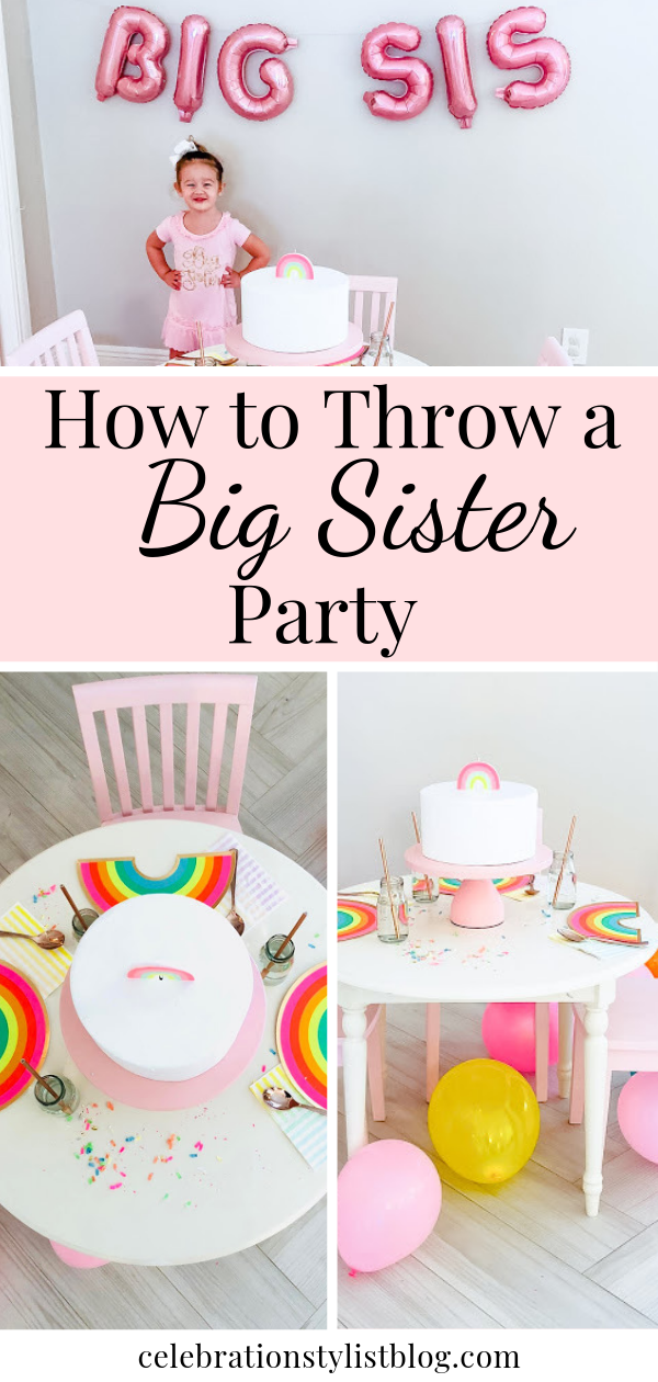 How to Throw a Big Sister Party by The Celebration Stylist