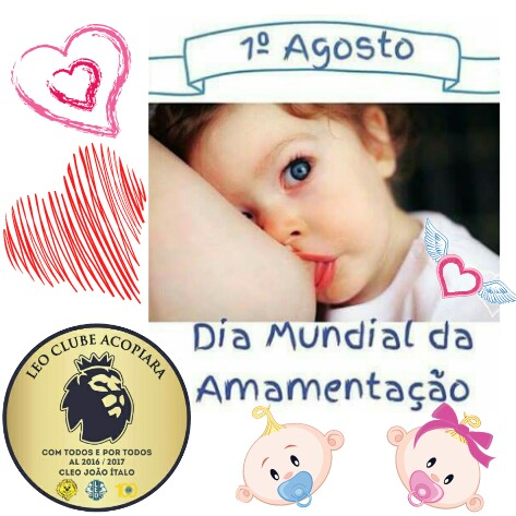 Leo Clube Acopiara 1º De Agosto Dia Mundial Da Amamentação