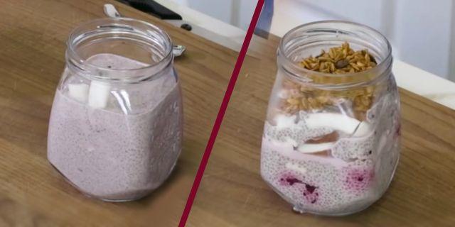 evde türk kahveli chia puding yapılışı, kahvaltılık tarifler, KahveKafeNet
