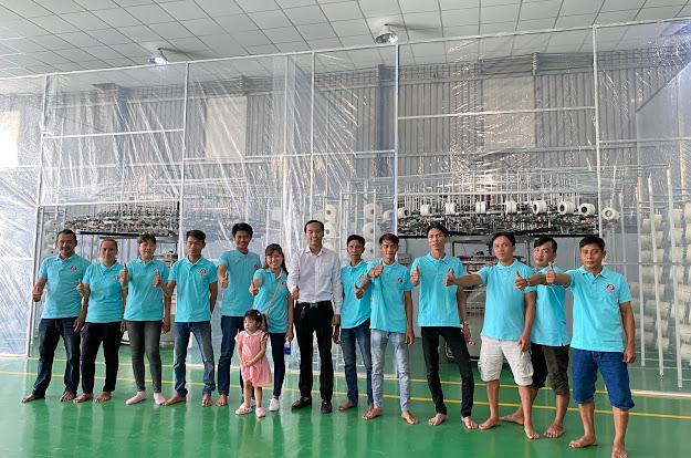 Xưởng dệt vải thun Song king thứ 2 tại Củ Chi