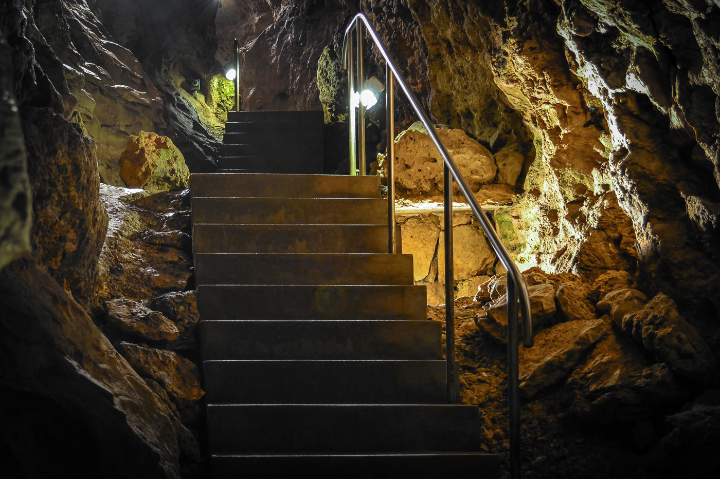 Cave stairs
