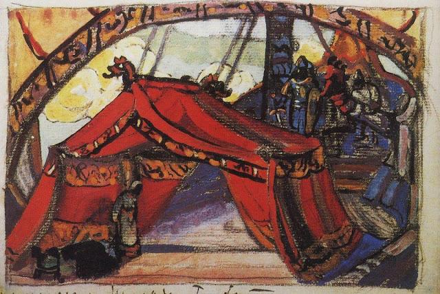 Николай Рерих - Корабль Тристана. 1912