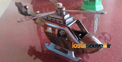 Souvenir Miniatur Helikopter Kayu