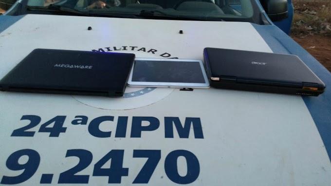 Policiais da 24ª CIPM recuperam produtos de furtos em Ourolândia