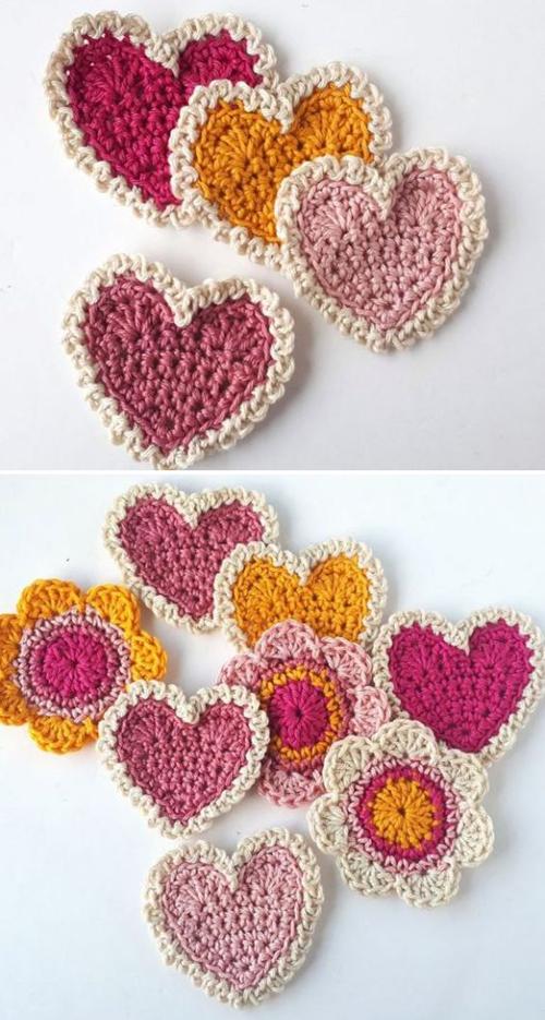 Vintage Crochet Hearts - Free Crochet Pattern