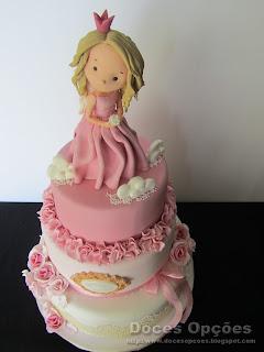 bolos batizado bragança menina princesa