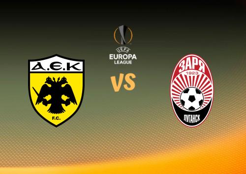 AEK Atenas vs Zorya Luhansk  Resumen