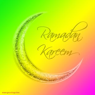 Ramadan Kareem Pics golden moon