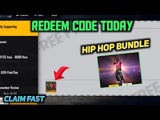 Hip hop bundle redeem code for free fire
