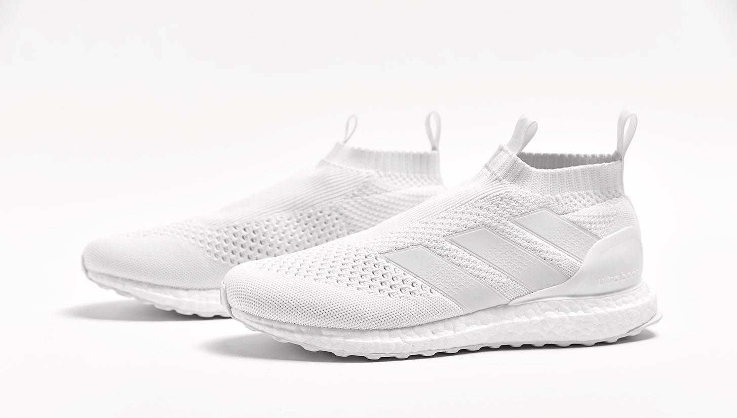 triple white adidas ace 16 purecontrol ultra boost. Black Bedroom Furniture Sets. Home Design Ideas