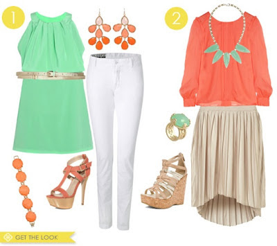 Mint and Coral Color Trend