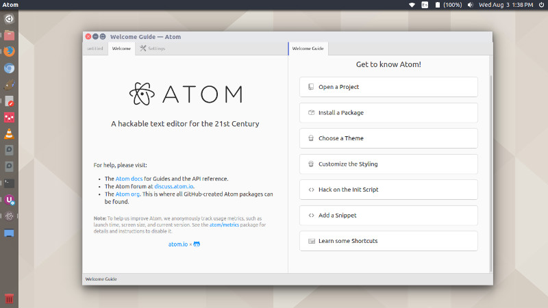 How Install Atom Text Editor 1 18 On Ubuntu Linux - Great