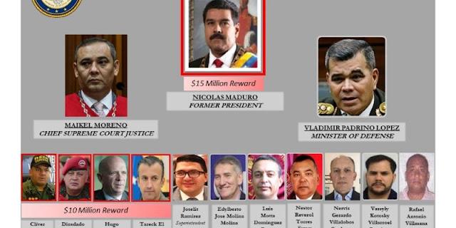 La nueva lista completa de los venezolanos más buscados por USA