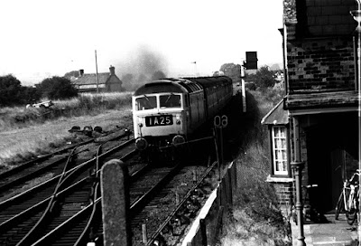 An express train linking Cleethorpes and Grimsby passing through North Kelsey station in the early 1970s - picture from the Ken Fisher Collection