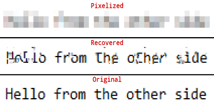 Depix : Recovers Passwords From Pixelized Screenshots