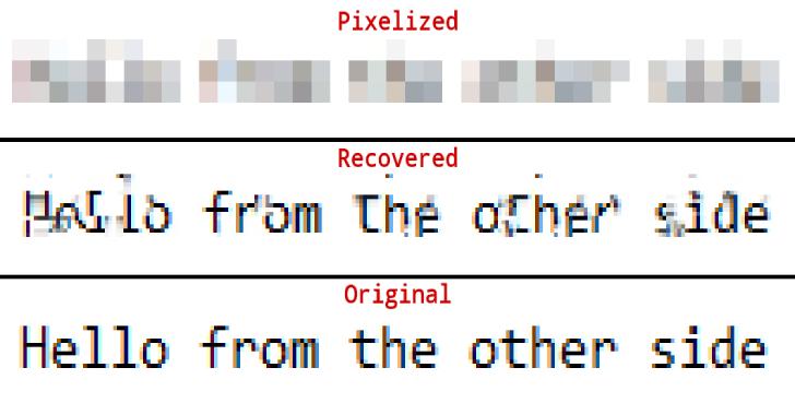 Depix : Recovers Passwords From Pixelized Screenshots
