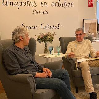 Con Carlos Castán y Ernesto Calabuig  en Amapolas en Octubre