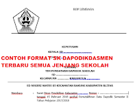 Contoh Format SK Operator Dapodik Untuk Semua Jenjang Terbaru