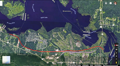 My proposed Lake Superior and Mississippi Railroad bypass of Mud Lake