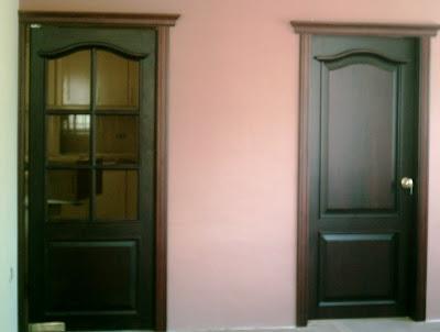 Idea tu mobiliario puertas interiores y exteriores para for Puertas de madera interiores rusticas