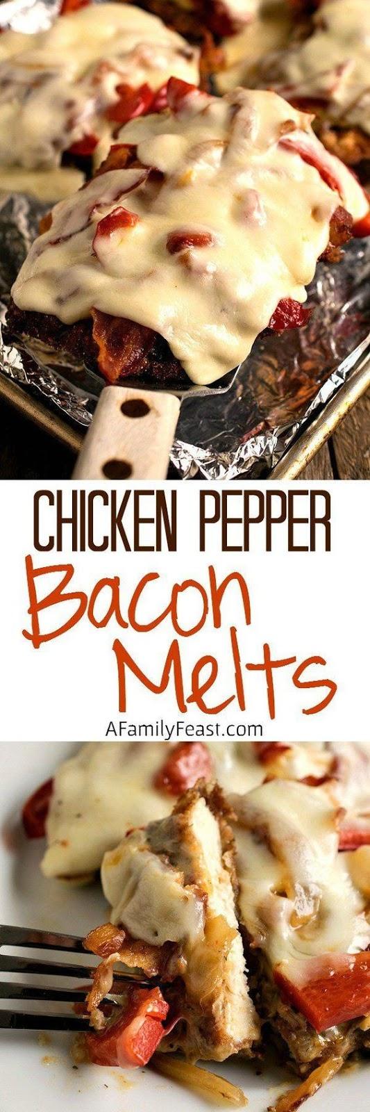 Chicken Pepper Bacon Melts