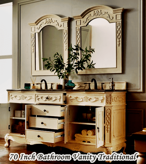 70 Inch Bathroom Vanity Double Sink Traditional
