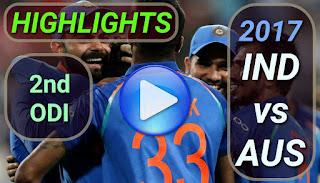 india-vs-australia-2nd-odi-2017-highlights