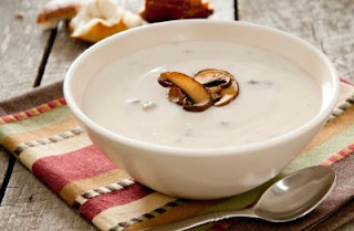 the method to cook the mushroom soup with milk.