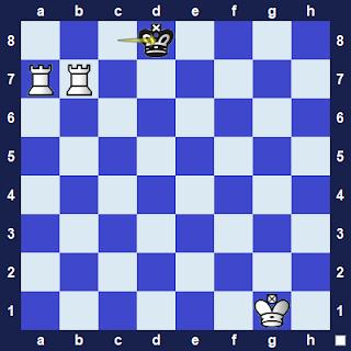 Mematikan Raja Lawan menggunakan Dua Benteng