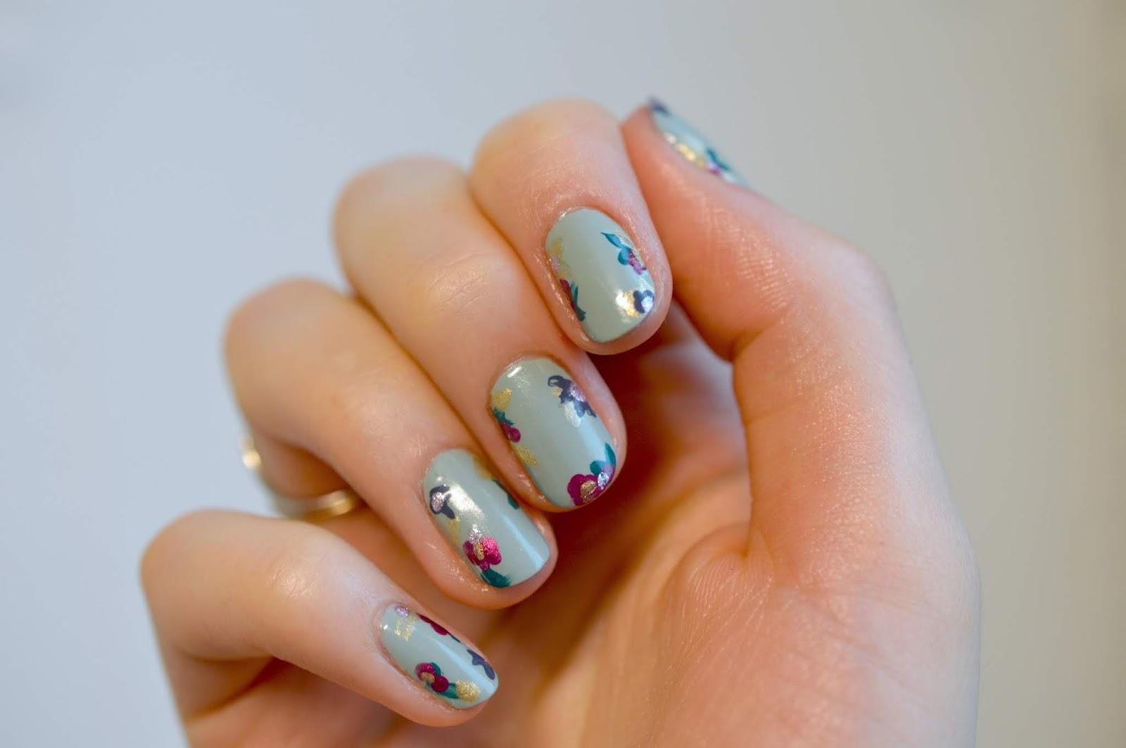 diy floral nail polish