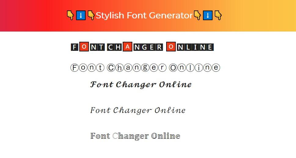 Font Changer Online