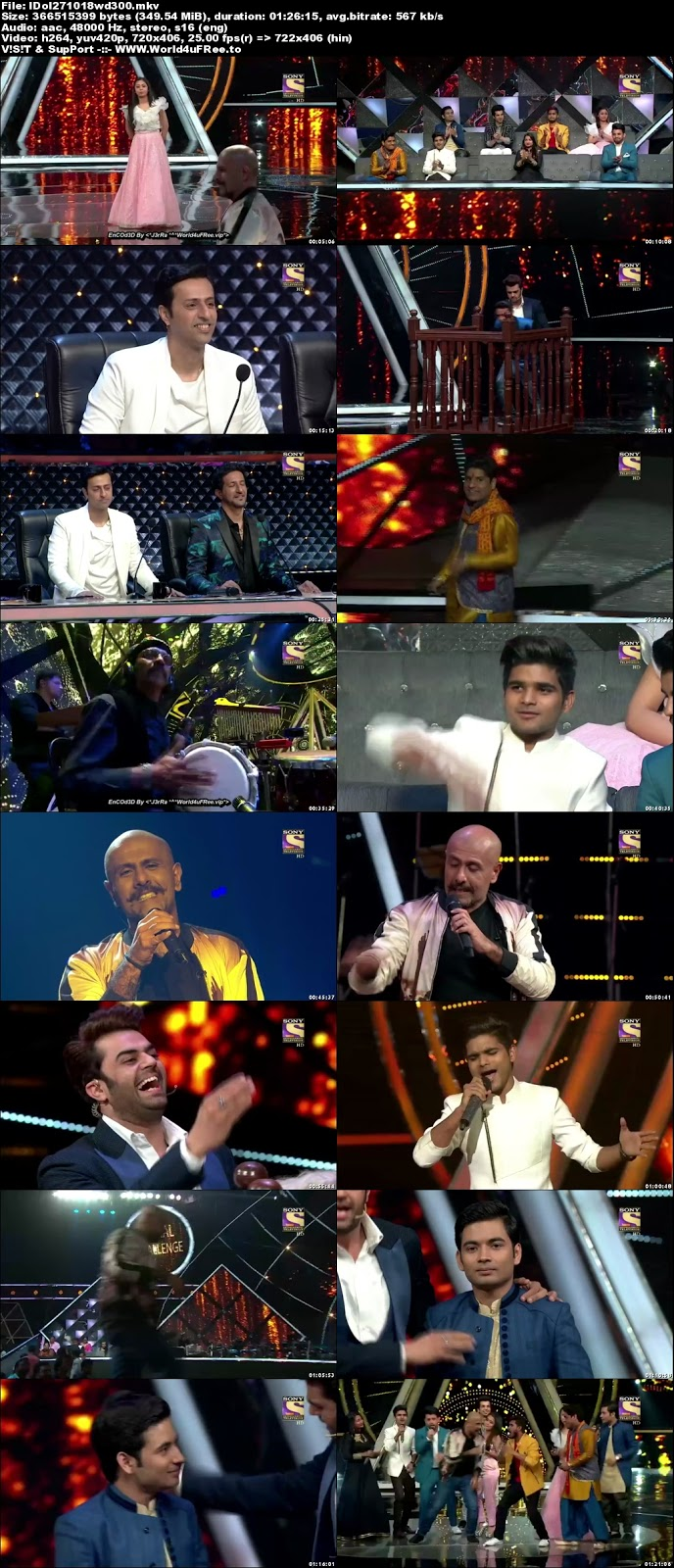 Indian Idol Season 10 27 October 2018 HDTV 480p 300Mb world4ufree.vip tv show Indian Idol Season 10 hindi tv show Indian Idol Season 10  Sony Set  tv show compressed small size free download or watch online at world4ufree.vip
