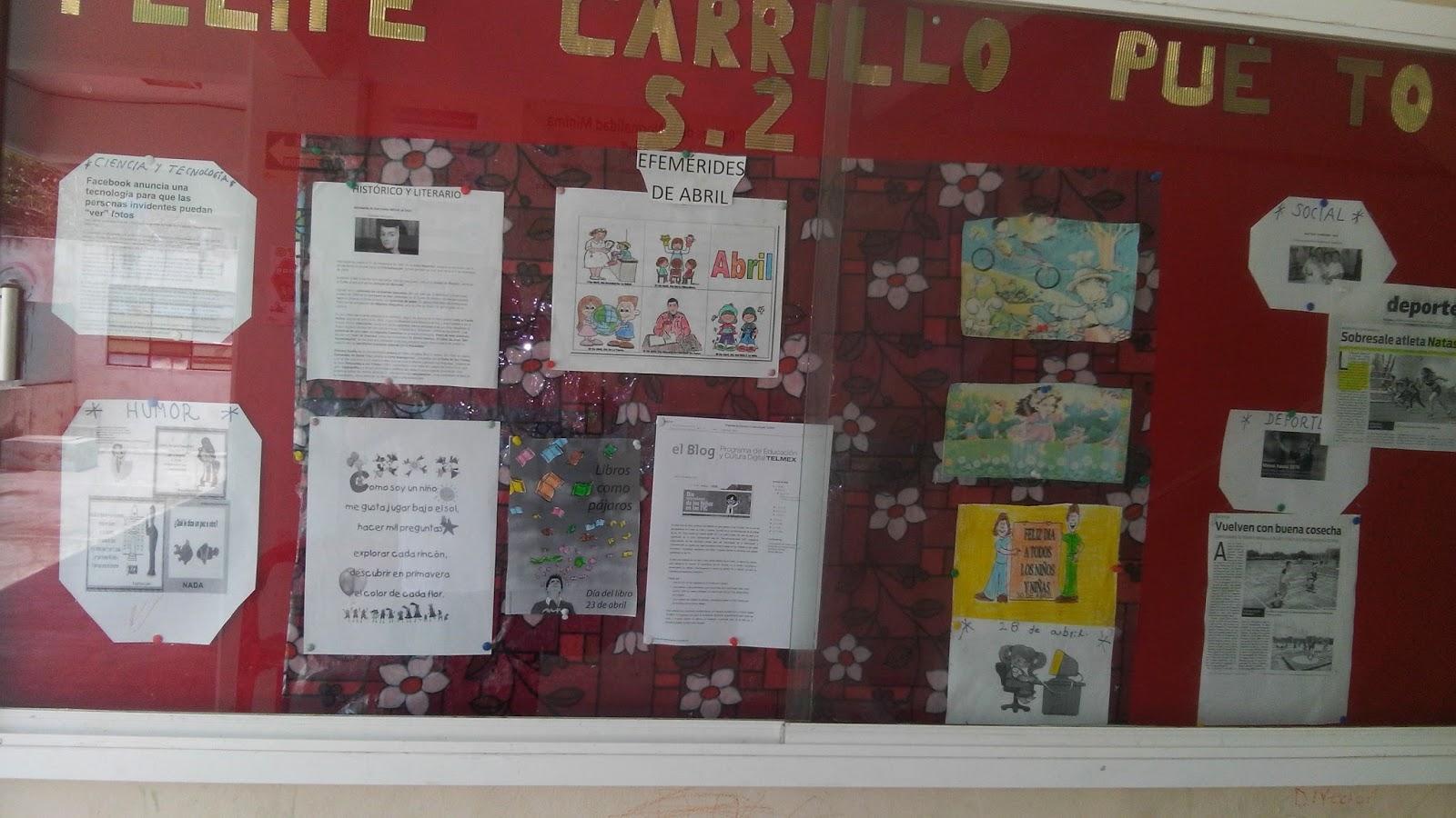 Escuela primaria felipe carrillo puerto seccion 2 abril 2016 for Diario mural fiestas patrias chile