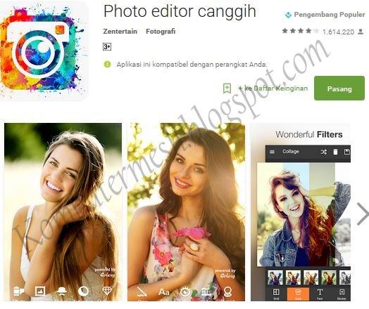 Aplikasi Edit Foto Android Keren, Lucu dan Paling Bagus