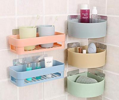OBIXO ABS Plastic Multipurpose Corner Shelf Useful in Kitchen and Bathroom