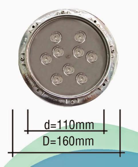 ĐÈN LED ÂM NƯỚC 9W RGB - INOX
