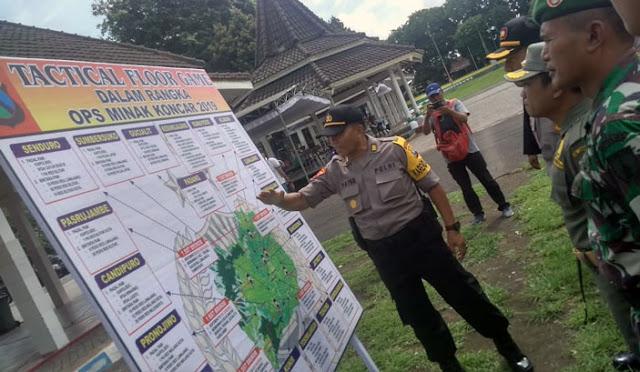 Peta pengamanan Pilkades Serentak Lumajang 2019