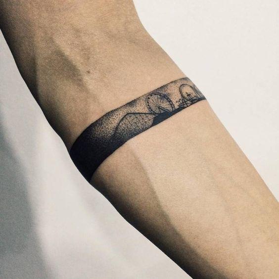 Tatuajes para antebrazo brazalete
