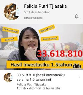 saluran youtube investasi felicia putri
