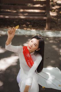 Nhan sắc gây mê của Á khôi Đại học Huế dự thi Hoa hậu Việt Nam 2020