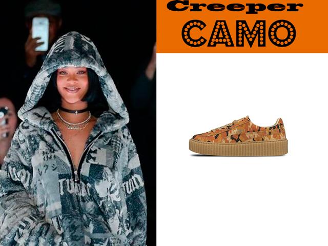 Conheça o sapato premiado da Rihanna: Creeper Camo