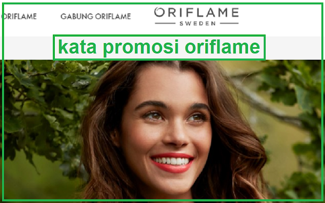 promosi produk oriflame