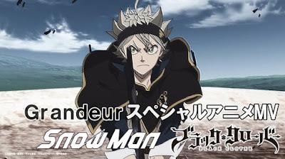 Snow Man - Grandeur lyrics lirik 歌詞 arti terjemahan kanji romaji indonesia translations info lagu details single ブラッククローバーOP13