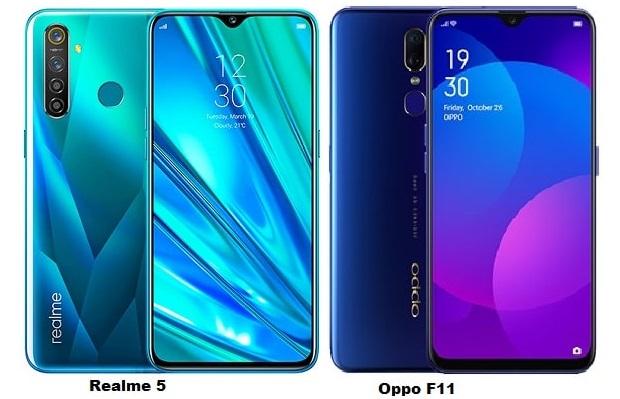 Realme 5 Vs Oppo F11 Specs Comparison