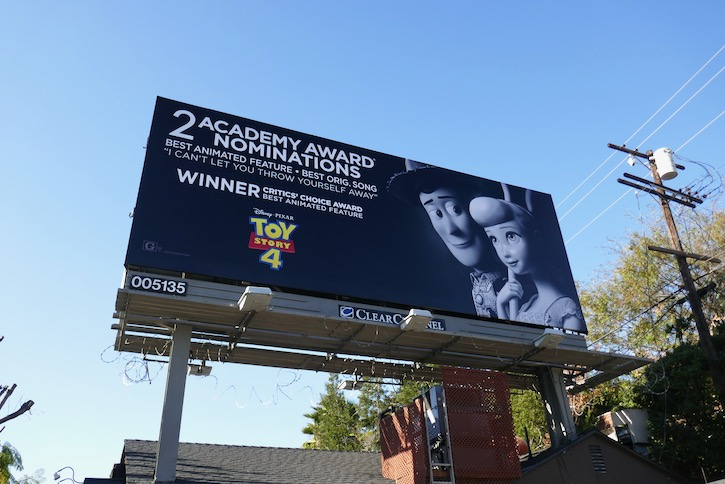 Toy Story 4 Oscar nominee billboard