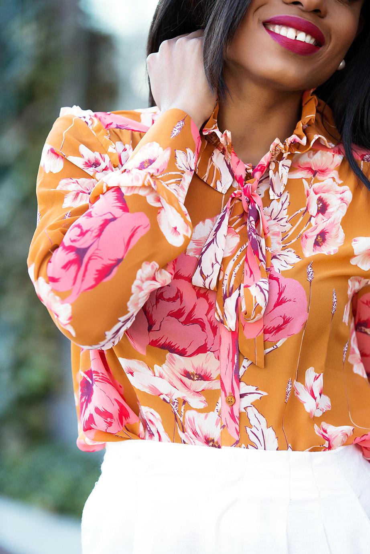 Ann Taylor floral shirt, www.jadore-fashion.com