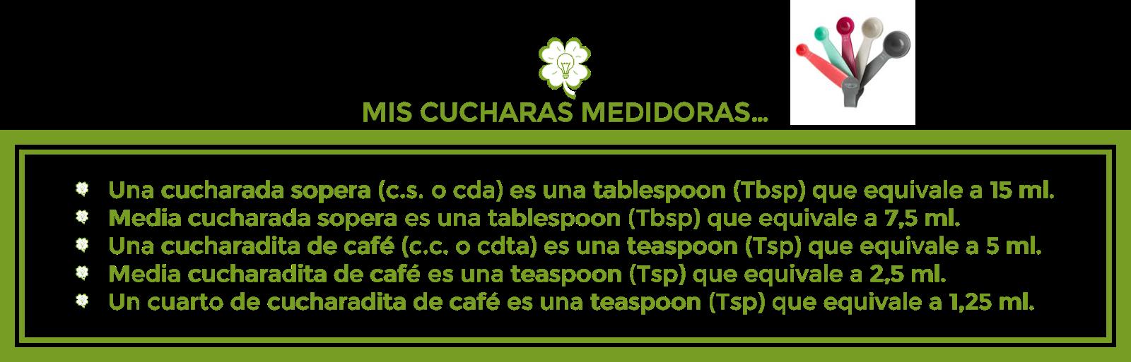 MIS CUCHARAS MEDIDORAS
