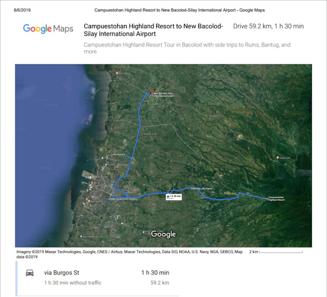 campuestohan highland resort direction map guide bacolod airport